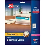 Avery Clean Edge Laser Ivory Business Cards