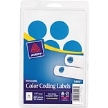 Avery  05496 Print Or Write Removable Color-Coding Label, Light Blue, 1 1/4(Dia), 400/Pack