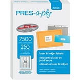 PRES-a-ply 1 x 2.63 Laser Address Labels, White, 250/Pack (30606)