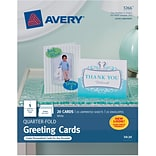 Avery Personal Creations Quarter-Fold Card Pack