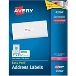 Avery 1 x 2.63 Laser Address Labels, White, 250/Pack (45160)