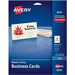 Ivory Business Cards f/Inkjet Printers