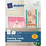 Personal Creations™ Textured Half-Fold Cards w/Envs., 5-1/2 x 8-1/2, 30/Bx