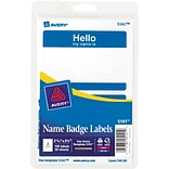 Avery HELLO Blue Name Badge Labels