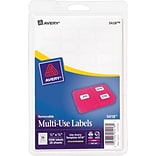 Avery® 05418 White Removable Multipurpose Labels; 1/2 x 3/4, 1000/Pack