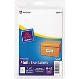 Avery® 5436 Print-or-Write Multiuse ID Labels, 1H x 3L, 250/Pack