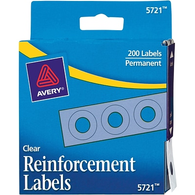 Avery® Clear Hole Reinforcement Labels