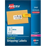 Avery® 5163 Shipping Labels; 2x4, 1000/Box
