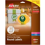Avery® Easy Peel® Print-to-the-Edge 2 Round White Labels; 120/Box