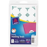 Avery® 5247 White Permanent Mailing Seals; Laser or Inkjet, 1, 600/Box