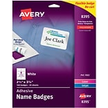 Avery Self-Adhesive Name Tag Labels, White, 2 1/3 x 3 3/8, 160/Pack