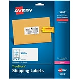 Avery® White Laser Shipping Labels with TrueBlock, 2 x 4, 250/Box (5263)