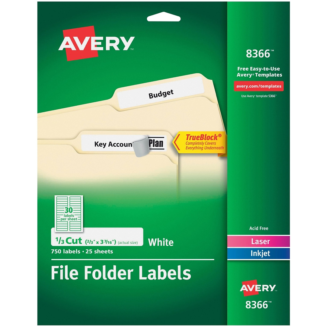 Avery permanent file folder labels with trueblock 23 x 3 716 this web site is intended only for use by us residents saigontimesfo