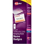 Avery® Name Tag Holders (74520Q) - Plastic - Laser/Inkjet - 3x4, 50 ct