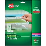 Avery® 6467 Removable Inkjet/Laser Labels, 1/2 x 1-3/4, 2,000/Pack