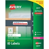 Avery 6577 White Permanent Durable ID Laser Labels, 5/8 x 3, 1,600/Pack