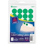 Avery® Color Coding Labels; Neon Green, 3/4 Round, 1008/Pack