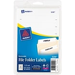 Avery® 5230 Removable File Folder Labels, White, 1/3 Cut, 252/Pack