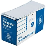 Avery 4022 White Pin-Fed Computer Labels, 4 x 1-15/16, 5,000/Box