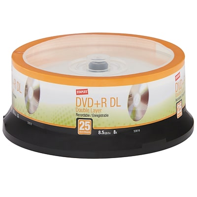 DVD+R DOUBLE LAYER 25PK