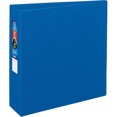 Avery® Heavy-Duty One Touch EZD™ 3 D-Ring Binder; Non-View, Blue, 3-Ring