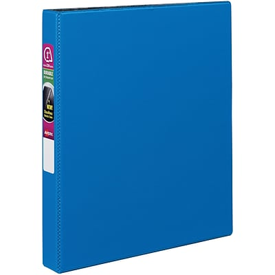 Avery® Durable 1 Slant Ring Binder; Non-View, Blue, 3-Ring