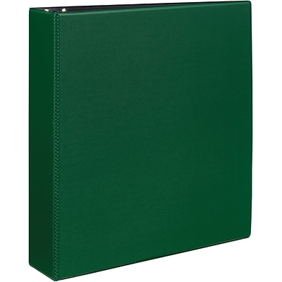 Avery® Durable EZ-Turn™ Gap Free™ 2 D-Ring Binder; Non-View, Green, 3-Ring