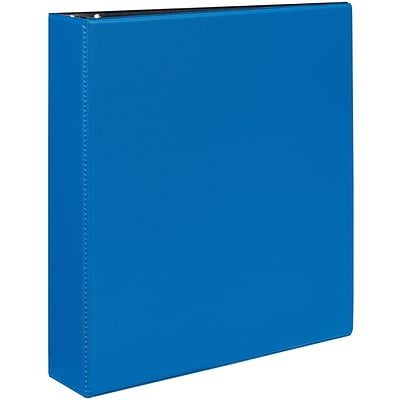 Avery® Durable EZ-Turn™ Gap Free™ 2 D-Ring Binder; Non-View, Blue, 3-Ring