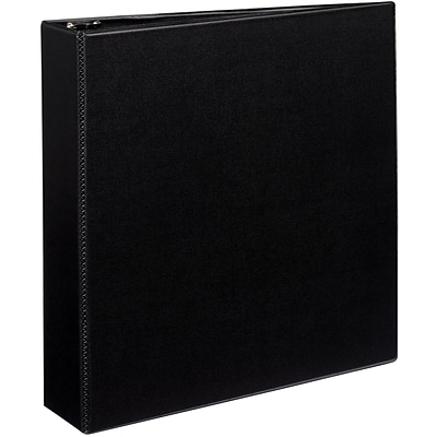 Avery® Durable EZ-Turn™ Gap Free™ 2 D-Ring Binder; Non-View, Black, 3-Ring