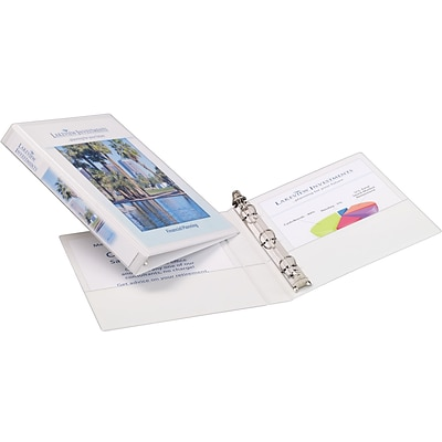Avery Mini Durable View Binder for 5-1/2 x 8-1/2 Pages with 1/2 Gap Free Round Rings, White (27726)