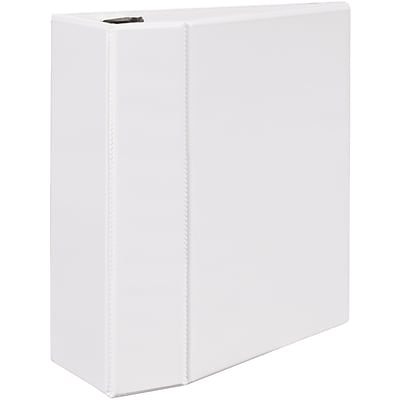 Avery® Durable View Binder with 5 Two Booster EZD™ Rings; White