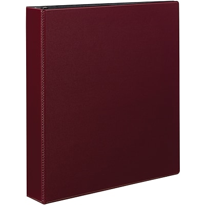 Avery Durable Binder, 1-1/2 Slant Rings, 375 Sheet Capacity, DuraHinge, Burgundy (27352)