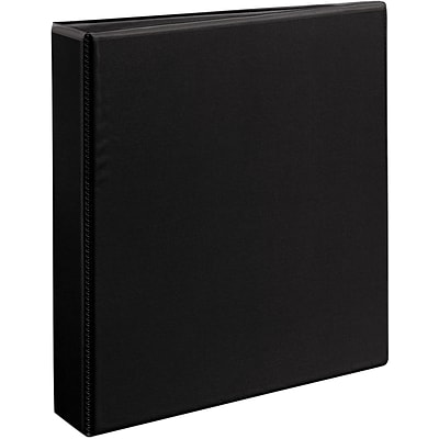 Avery® Durable View Binder with 1-1/2 Two Booster EZD® Rings, Black
