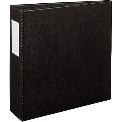 Avery® Durable 3 Slant Ring Binder with Label Holder, Non-View, Black, 3-Ring