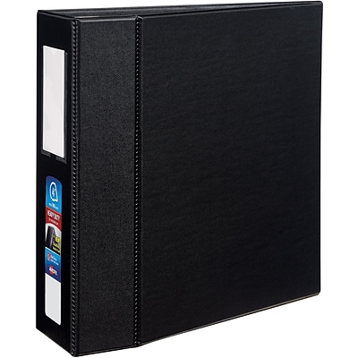 Avery® Heavy-Duty One Touch EZD™ 4 Ring Binder with Label Holder; Non-View, Black, 3-Ring