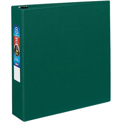 Avery Heavy-Duty Binder, 2 One Touch Rings, 540 Sheet Capacity, DuraHinge, Green (79782)