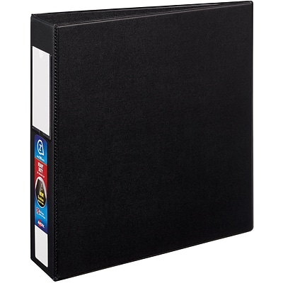 Avery Heavy-Duty Binder, 2 One Touch Rings, 540 Sheet Capacity, Label Holder, DuraHinge, Black (79992)