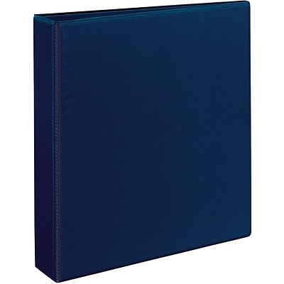 Avery® Heavy-Duty View Binder with 1-1/2 One Touch EZD™ Rings; Navy Blue