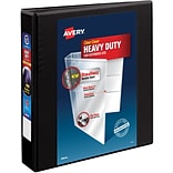 Avery Heavy-Duty View Binder, 1-1/2 One Touch Rings, 400 Sheet Capacity, DuraHinge, Black (79695)