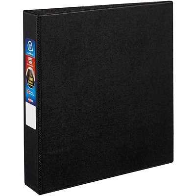 Avery Heavy-Duty Binder, 1-1/2 One Touch Rings, 400 Sheet Capacity, DuraHinge, Black (79985)