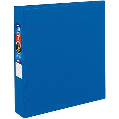 Avery® Heavy-Duty One Touch EZD™ 1-1/2 3-Ring Binder; Non-View, Blue