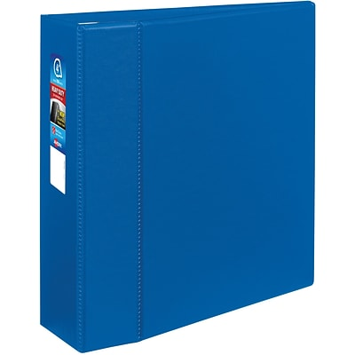 Avery Heavy-Duty Binder, 4 One Touch Rings, 780 Sheet Capacity, DuraHinge, Blue (79884)