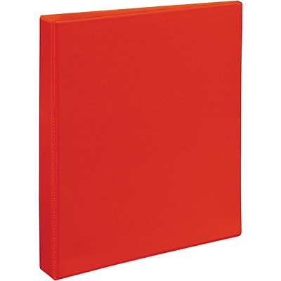Avery® Heavy-Duty View Binder with 1 One Touch EZD™ Rings; Red