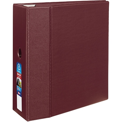 5 Avery® Heavy-Duty Binder with One Touch™ EZD® Rings, Maroon