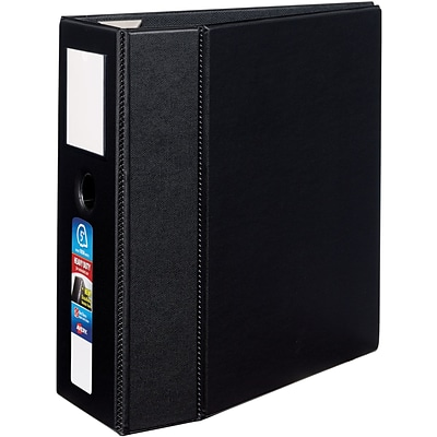 Avery® Heavy-Duty One Touch EZD™ 5 Ring Binder with Label Holder; Non-View, Black, 3-Ring