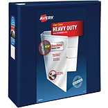 Avery Heavy-Duty View Binder, 4 One Touch Rings, 780 Sheet Capacity, DuraHinge, Navy Blue (79804)