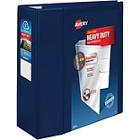 Avery® Heavy-Duty View Binders with One Touch™ EZD® Rings; 5, Navy Blue
