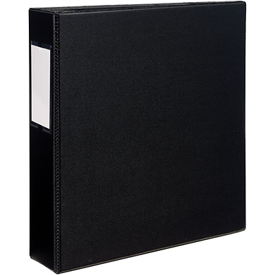 Avery® Durable D 3-Ring Non-View Binder; 2, Black (08502)