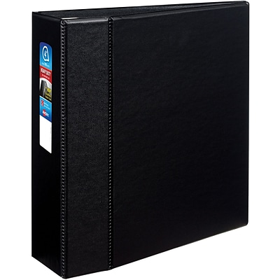Avery® Heavy-Duty One Touch EZD™ 4 D-Ring Binder; Non-View, Black, 3-Ring