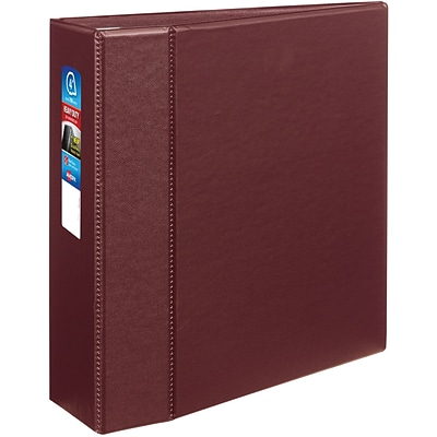 Avery Heavy-Duty Binder with 4 One Touch EZD Rings, Maroon (79364)